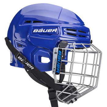Bauer IMS 5.0 helmet combo (incl. cage) blue (3)